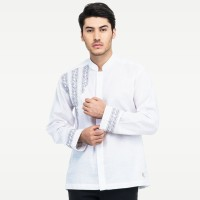 RAVAN 1007 Baju Muslim Koko Pria Lengan Panjang Katun Premium