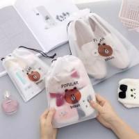 Travel Bag/Pouch Organizer Tas Serut Sepatu/Makeup/Kosmetik Serba Guna
