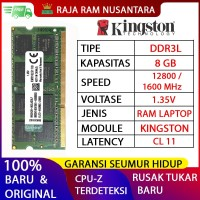 RAM LAPTOP KINGSTON DDR3L 8GB 12800/1600MHz ORI RAM SODIMM 1.35v 8GB