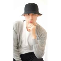 Houseofcuff Bucket Hat Topi Polos Bolak balik Hitam - Cream