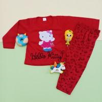Setelan Baju Tidur Lengan Panjang Anak Motif Hello Kitty 2