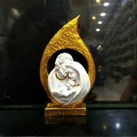 patung Keluarga Kudus Daun Gold / patung Keluarga Kudus