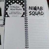 Custom big notebook besar/ buku tulis A4 bergaris isi 50lembar