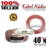 KABEL AUDIO 1 ROLL 40 METER 2X50