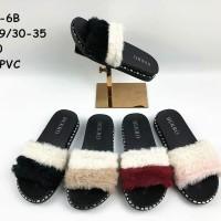 Sandal selop bulu 6685-6B