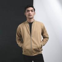 Jaket Canvas Premium Cream / Jaket Pria / Jaket Bomber