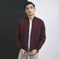 Jaket Canvas Premium Maroon / Jaket Pria / Jaket Bomber