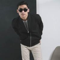 Jaket Canvas Premium Black / Jaket Pria / Jaket Bomber