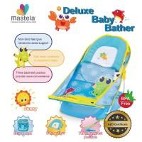 Mastela Deluxe Baby Bather/Kursi Mandi WaterPark-Croco-BlueLight 07165