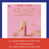 PAKET RESELLER 1 Pc GLANZ Lip & Cheek Cream Baby Pink