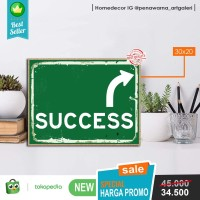 success | hiasan | pajangan dinding | poster | kayu | wall decor