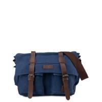 Urban State - Canvas PU Explorer Messenger Bag - Navy