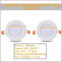 Lampu LED Downlight 3 Watt Cahaya putih