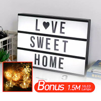 A4 Letter Light Bonus 1.5 meter light/ada 96psc Letters + Emoticons