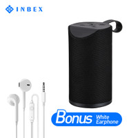 INBEX Bluetooth Speaker Bonus Earphone/Stereo Bass Speaker 80*80*180mm