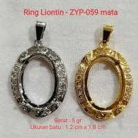Ring Kalung Titan Liontin ikat batu akik per codi DICS 50% zyp-059mata