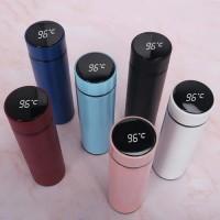 Termos stainless LED temperatur display botol minum temperature suhu - Hitam