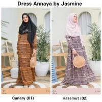 Dress Annaya Size L-XXL -Hanya Dress- Gamis Syari Rayon by Jasmin