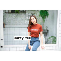 ForGirl2 baju atasan kaos wanita SORRY SORRY- konveksi tanah abang