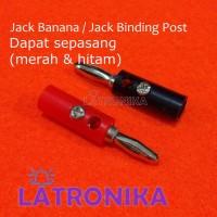 Jack Banana Bunga Sepasang Jek Banana Merah Hitam Jack Binding Post 4m