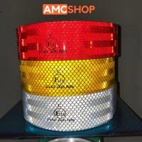 Stiker Reflektor 1 Meter x 5cm Stiker Kir Lolos Dishub Untuk Mobil Box