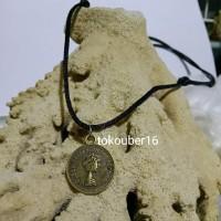 kalung koin logam/ kalung pria/ kalung cowo kalung tali