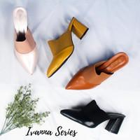 Ivanna By Quince - Sandal mules heels hak tahu 7cm