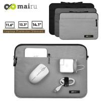 Tas Softcase Laptop 11/13/14 inch Notebook Mairu Sleeve Macbook - Abu-abu, 11.6