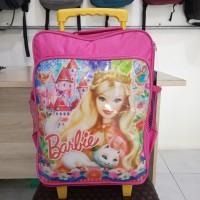 Tas Troli Anak Kekinian Murah Berkualitas Motif Barbie Pink Original