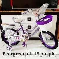 sepeda anak perempuan mini ukuran 16 sepeda evergreen sepeda murah 78