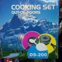 Cooking Set DS200 / Alat Masak Outdoor dan Camping Nesting DS 200