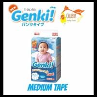 GRATIS ONGKIR Nepia Genki Diapers - Rekat (Medium Tape 63) TERBAIK