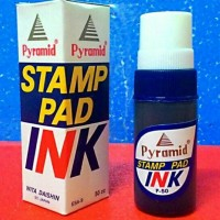 Pyramid Stamp Pad Refill Ink Warna BIRU | Tinta Stempel Pyramid