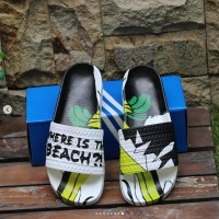 New Release Sandal Adidas Adilette Where Is The Beach Import Quality