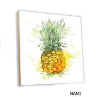 Wall Home Decor Buah Nanas MDF 20x20cm Hiasan Dinding Poster Art Fruit