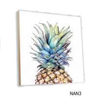Poster Kayu Buah Nanas MDF 20x20cm Hiasan Dinding Wall Decor Fruit