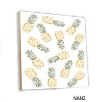 Dekorasi Kamar Buah Nanas Fruit MDF 20x20cm Pajangan Hiasan Dinding