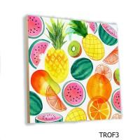 Wall Home Decor Buah Tropical Fruit MDF 20x20cm Poster Hiasan Dinding