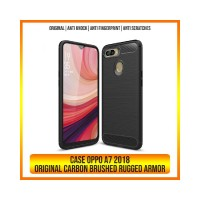 CASE OPPO A7 2018 A3S A83 A71 A37 NEO 9 BRUSHED CARBON RUGGED ARMOR BA