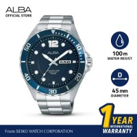 Jam Tangan Pria Alba Active Quartz Leather AV3505 Original