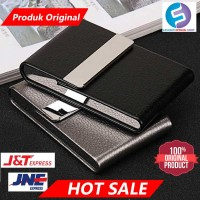 Kotak Bungkus Rokok Elegan Leather Cigarette B650925 Hitam