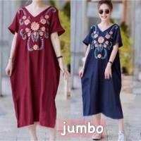 ForGirl2 baju DRESS jumbo wanita PELITA