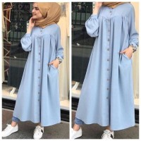ForGirl2 baju LONG DRESS muslim gamis wanita KANAYA