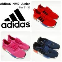 Sepatu Kets Anak Adidas NMD Junior Hitam Merah Pink Navy
