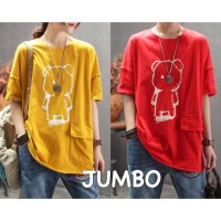 ForGirl2 baju atasan KAOS JUMBO - big size AMEL 4 warna