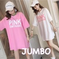 ForGirl2 baju atasan KAOS JUMBO - big size PINK ISMYNAME 2 warna