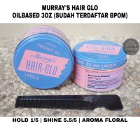 POMADE MURRAYS HAIRGLO / HAIR GLO 3oz free sisir unbreakable