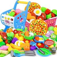 12-26pcs Mainan Buah / Sayur Potong untuk Bermain Peran
