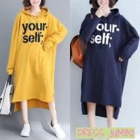 ForGirl2 long dress HOODIE jumbo wanita YOUR SELF