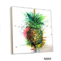 Home Decor Buah Nanas MDF 20x20cm Poster Kayu Hiasan Dinding Fruit